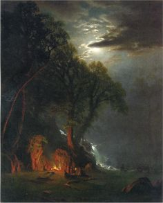 View Campfire site, Yosemite by Albert Bierstadt on artnet. Browse upcoming and past auction lots by Albert Bierstadt. Nocturne, Landscape Art, Landscape Paintings, Art Paintings, Landscapes, Albert Bierstadt Paintings, Carl Spitzweg, Oil Painting Reproductions, A4 Poster