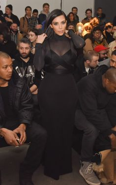 In Alexander Wang during New York Fashion Week. See the best of Kim Kardashian's 2015 outfits.