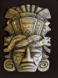 Mayan face mask 2 | Flickr - Photo Sharing! - www.flickr.com Mayan Glyphs, Mayan Mask, Aztec Mask, Aztec Clay, Arte Latina, Mayan History, Mayan Tattoos, Aztec Symbols, Aztec Warrior
