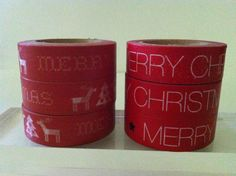 MERRY CHRISTMAS WORDS WASHI TAPE: CHOOSE FROM 2 DIFFERENT PATTERNS- BRAND NEW