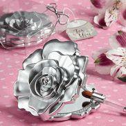 Realistic Rose Design Compact Mirror Favors