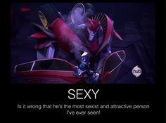 ♡ On Pinterest @ kitkatlovekesha ♡ ♡ Pin: TV Show ~ Transformers Prime ~ Knock Out Sexy ♡