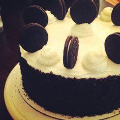 Chocolate Oreo Cream Cake #mikkisjar