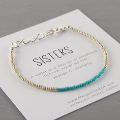 Hey, I found this really awesome Etsy listing at https://www.etsy.com/listing/216201582/sister-bracelet-sibling-jewelry-message