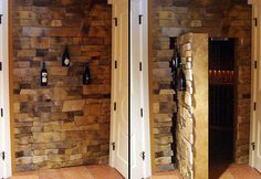 My man cave entrance will be built by hiddenpassageway.com.  This one picture doesn't do justice to the exhaustive variety of ways they can hide things in your home.  Go lose yourself in the website for a few, you won't regret it.