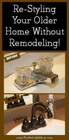 Re-Styling Your Home Without Remodeling. You can do it yourself