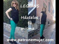 ▶ Como hacer unos leggins: Como hacer unos leggins con patronesmujer.com. - YouTube