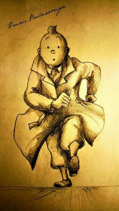 DeviantArt: More Like Tintin 2 by negroh Cartoon Sketches, Cartoon Art, Cartoon Characters, Comic Character, Character Design, Tin Tin Cartoon, Bd Comics, Funny Cartoons, Cool Drawings