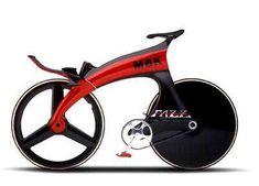 Le designer Sacha Lakic nous présente trois illustrations de vélos. Des concept bikes aux formes futuristes conçu pour MBK.