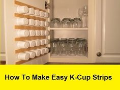 How to Make Super Easy, Space Saving K-Cup Storage
