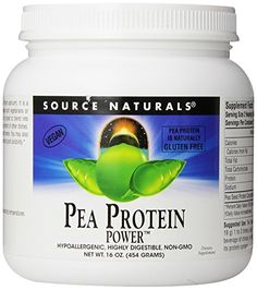 Source Naturals Pea Protein Power, 1 Pound. Pea Protein Power(TM) is a natural vegetable protein made from yellow peas (Pisum sativum). It is a highly bioavailable, easily digestible, concentrated protein source, perfect for vegans and vegetarians or anyone who wants a healthy alternative to other protein products.