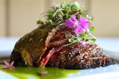 Flank Steak Crostini with a Sweet Onion Relish