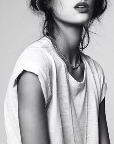 Simple. white t-shirt. More fashion, beauty and lifestyle over at…