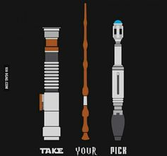 Can I pick all three?!   Harry Potter, Doctor Who, Star Wars