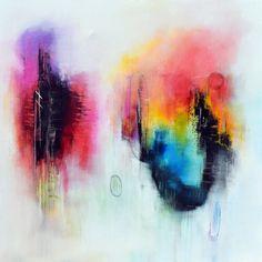 Original gran pintura abstracta sobre lienzo cuadrado