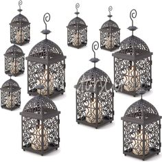 Lot of 10 Moroccan Birdcage Candle Lanterns Wedding Events Centerpieces #Unbranded