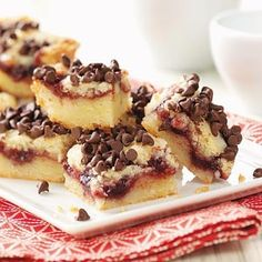 Chocolate Chip Raspberry Bars