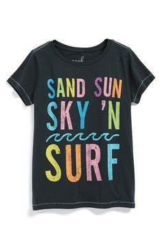 Peek+'Surf'+Graphic+Cotton+Tee+(Toddler+Girls,+Little+Girls+&+Big+Girls)+available+at+#Nordstrom