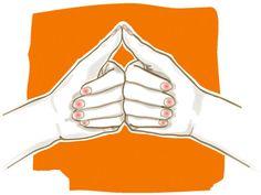 Drei Minuten Finger-Yoga am Morgen, mittags und abends können vorbeugend wirken. Die Yoga-Formhilft auchakut bei Kopfschmerzen.