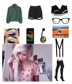 """""""Untitled #2704"""" by sammibeawsome ❤ liked on Polyvore featuring Topshop, Vans, Bootights and Converse"""