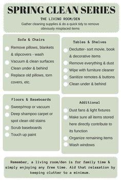 Spring Clean Series: Family Room — the decluttering handbook