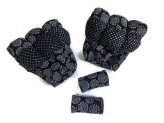 Bubble Crutch Pads and Purse Set in Black and White Cotton Fabrics -  Ready to Ship Crutch Covers