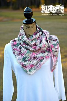 Enjoy the Winter Berry Delight Scarf using the Bamboo Bloom Handpaint Yarn by Universal Yarns!  It's an easy, simple and quick FREE crochet project!