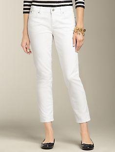 Signature Fit White Denim Crop Jean