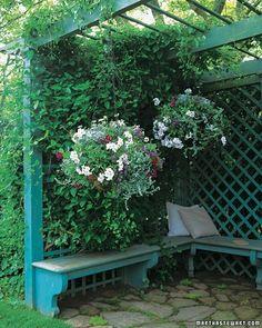 outdoor reading corner