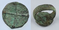 Amlash bronze ring 74, 1st millenium B.C. 1.2 cm diameter bezel, 1.9 cm diameter ring size, 7.8 gr weight. Private collection