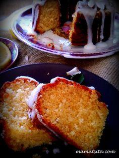 Κέικ λεμόνι στο τσακ μπαμ - συνταγή mamatsita.com homemade recipes Brownie Cake, Brownies, Piece Of Cakes, Vitamin C, I Foods, French Toast, Lemon, Bread, Baking