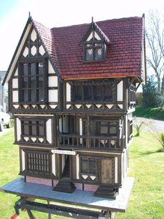 Handmade Bespoke Tudor 12th Scale Doll House by kjbc1960 on Etsy, $6000.00