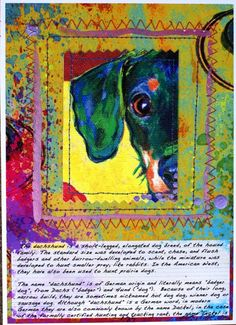 Mixed Media Dachshund Collage by artpaw on Etsy, $18.99
