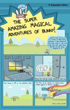 """The Super Amazing Magical Adventures of Bunny!"" Page 1 - Sebastien Millon / Art & Illustration"