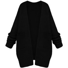 Womens Casual Long Sleeve Cardigan Sweater Coat Black (195 BRL) ❤ liked on Polyvore featuring tops, cardigans, outerwear, sweaters, jackets, black, long sleeve tops, cardigan top and long sleeve cardigan