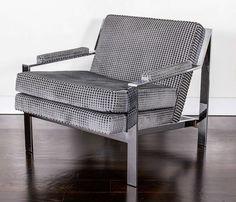 Milo Baughman Style Lounge Chair by Cy Mann 5