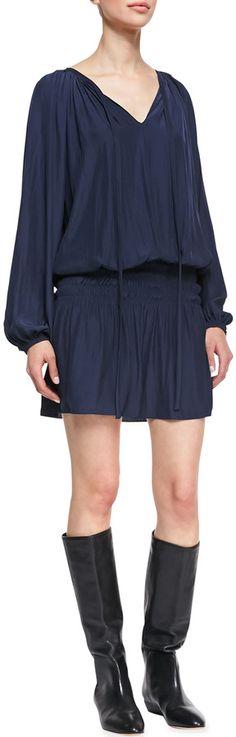 Neiman Marcus Ramy Brook Paris Blouson Drop-Skirt Dress on shopstyle.com
