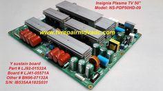 Insignia NS-PDP50HD-09 / Y sustain Board: LJ92-01535A, BN96-07132A / Tested #Insignia
