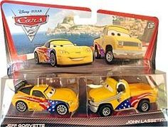 Disney / Pixar CARS 2 Movie Exclusive 155 Die Cast Car 2Pack Jeff Gorvette John Lassetire by Mattel Toys. $15.99. Disney Cars Kmart exclusive authentic Mattel 1:55 Diecast vehicle. Double your racing fun with an Disney Pixar Cars 2 Vehicle 2Pack of 155 scale diecast vehicles featuring teams of two characters who share key scenes in the film, Cars 2. Every pack includes an exclusive vehicle only available in the Cars 2 Character 2Pack!