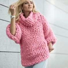 Marshmallow Sweater — Roomy and Soft Chunky Sweater by OhhioStay Cozy This Winter: Best Knitting Places To Buy Chunky Knit Blankets And Throws To Indulge Your Cozy Side So when you aren't skating on the pond, sledding down the mountain or Marshmallow, Big Knits, Knit Fashion, Girly Outfits, Knitted Blankets, Mantel, Knitwear, Sweaters For Women, Knitting