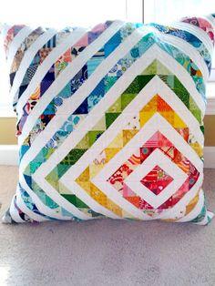 HST pillow by mihertz, via Flickr - strip piece it