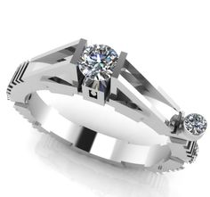 The Millennium Falcon Star Wars Engagement Ring