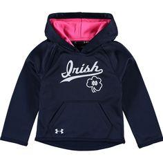 Notre Dame Fighting Irish Girls Toddler Armour Fleece Hoodie - Navy