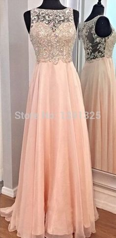 Real Picture 2015 Chiffon Long Prom Dresses Scoop Sleeveless Aline Floor-length Evening Gowns Scoop Long Evening Dresses Cheap