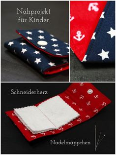 Schneiderherz: Nähen mit Kindern- Tutorial für Nadelmäppchen Best Picture For Knitting Techniques free pattern For Your Taste You are looking for something, and it is going to tell you exactly what yo Hand Embroidery Patterns Free, Simple Embroidery, Embroidery For Beginners, Knitting For Beginners, Dress Sewing Tutorials, Sewing Ideas, Easy Knitting Projects, Techniques Couture, Sewing Techniques