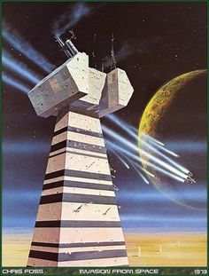 Chris Foss - Invasion from space - 1973