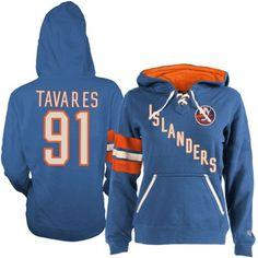 7caa09102 Gotta show my love for Johnny Hockey.Women s New York Islanders John  Tavares Old Time Hockey Royal Blue Heidi Hoodie