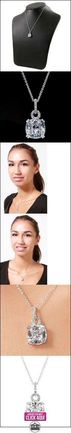 Cachemira de 5ct CZ Collar con Colgante-Cojín Corte  ✿ Joyas para niñas - Regalos ✿ ▬► Ver oferta: http://comprar.io/goto/B005POUA4C