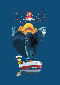 Ponyo Anime, Anime Manga, Anime Art, Studio Ghibli Films, Art Studio Ghibli, Miyazaki, Mononoke Anime, Mega Sena, Animation
