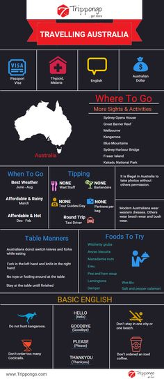 Get complete information about sightseeing and tourist destinations in Australia travelling infographic.